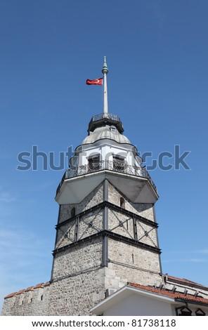 Maiden`s Tower (Kiz Kulesi) in Istanbul, Turkey - stock photo