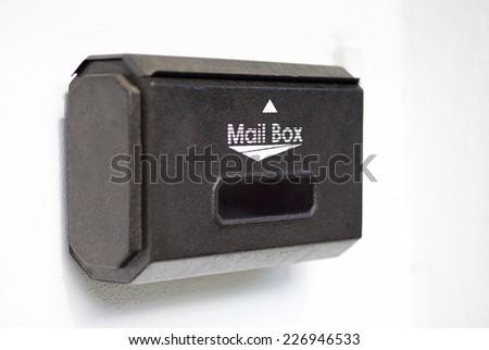 mail box on white background - stock photo