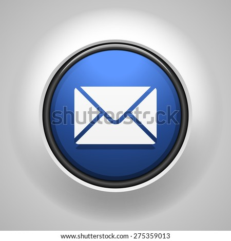Mail button - stock photo