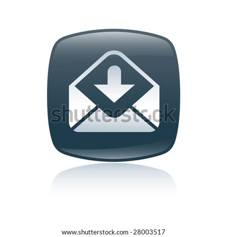 mail sand icon - stock photo