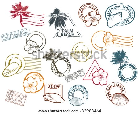 Mail to the Tropics - stock photo