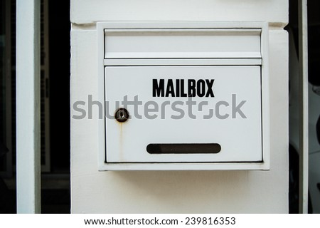 Mailbox in front of my house - stock photo