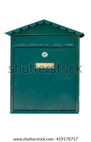 mailbox isolated on white background - stock photo