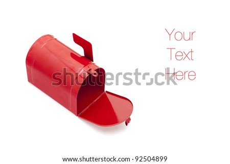 Mailbox isolated on white, copy space - stock photo