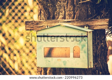 mailbox,picture in vintage style - stock photo