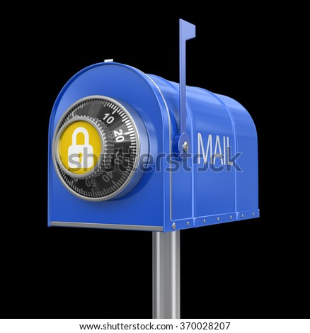 Mailbox protection. Image with clipping path - stock photo