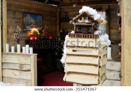 Mailbox Santa Claus - stock photo