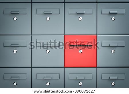 Mailboxes. Different metaphor - stock photo