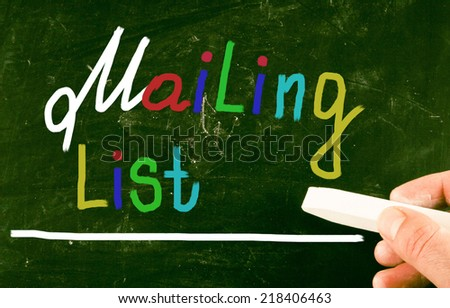 mailing list concept - stock photo