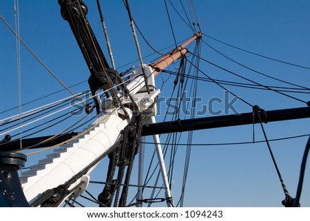 Main Mast of the USS Constitution - stock photo