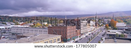 Main Street USA, North Adams, Massachusetts - stock photo