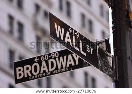 Main Street & Wall Street - stock photo