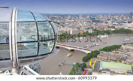 Main view on London - stock photo