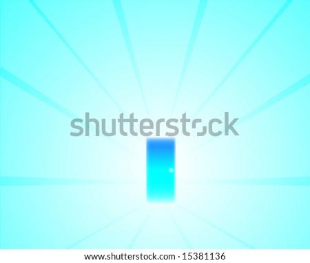 Majestic Door Passage Vector Illustration Design - stock photo