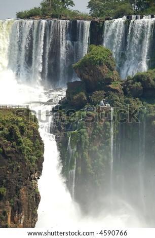 Majestic Iguazu Falls - stock photo