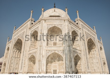Majestic Mughal Edifice - stock photo
