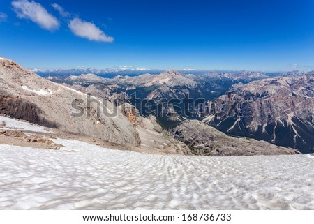 Majestic views of the Dolomites - Italy - stock photo
