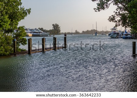 Major flooding in Venice, Florida after nearby tornado passed by - stock photo