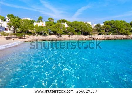 Majorca Cala Gran Beach in Cala Dor in Mallorca Santanyi at Balearic Islands of Spain - stock photo