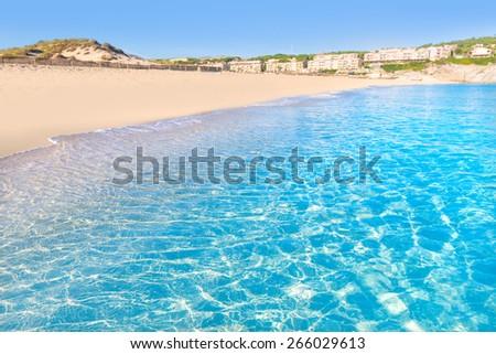 Majorca Cala Mesquida beach in Mallorca Balearic Islands of Spain - stock photo