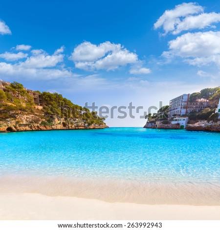 Majorca Cala Santanyi in Mallorca Balearic islands of spain - stock photo