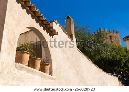 Majorca Capdepera village at  Mallorca Balearic Island Spain - stock photo