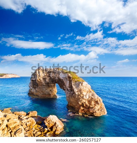 Majorca Es Pontas in Santanyi at Mallorca Balearic island of Spain - stock photo