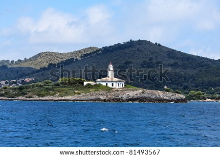 Majorca Island (Spain) : Discover the shores with its cliffs and caves, its beaches with windsurfing and peaceful harbours, its towns packed with flowers, its modern architecture. - stock photo