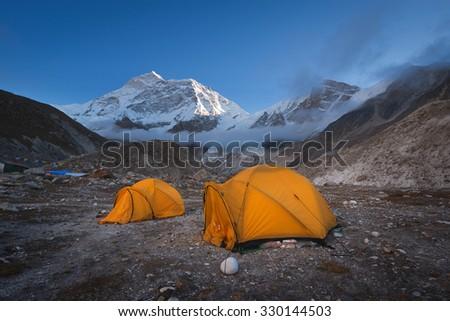 Makalu base camp - stock photo