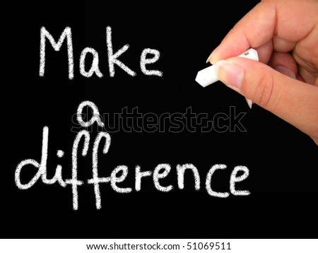 make a difference - stock photo