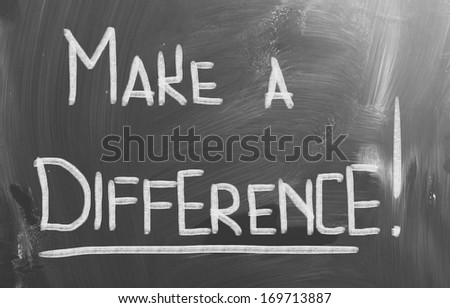 Make A Difference Concept - stock photo