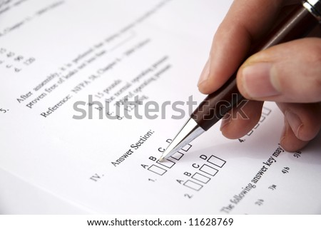 Make a test exam - stock photo