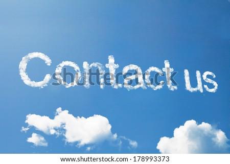 Make money cloud word on sky - stock photo