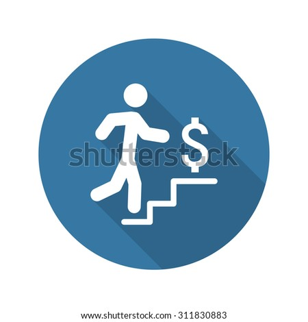 Make More Money Icon. Business Concept. Flat Design. Long Shadow. Isolated Illustration. - stock photo