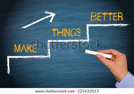 Make things better - Improvement Concept - stock photo