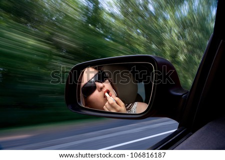 make-up at a speed of - stock photo