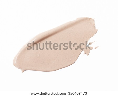 Make up base paint in abstract shape on background - stock photo