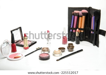 make-up, beauty concept  - stock photo
