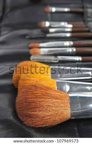 Make up brush - stock photo