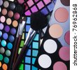 make-up collection for creative visage - stock photo