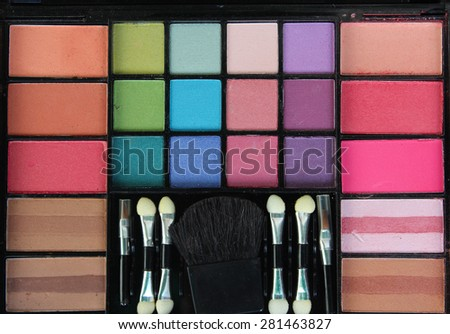 make up colors - stock photo