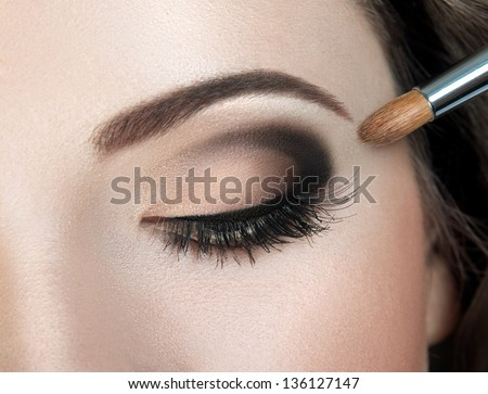 Make-up. Eyes - stock photo