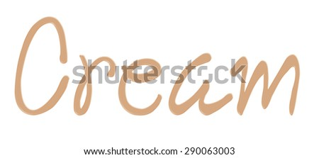 Make up Foundation cream in cream character style on isolated background - stock photo