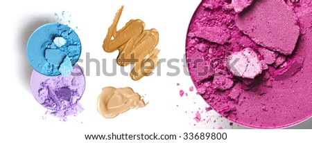 make-up products - stock photo