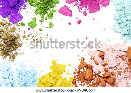 Make-up products frame - stock photo