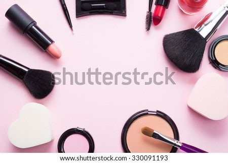 Make-up related products and tools - stock photo