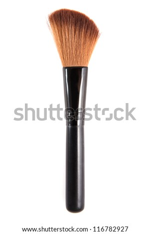 Makeup Brush Isolated - stock photo