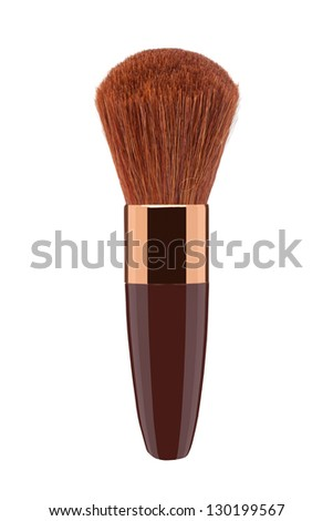 Makeup Brush on a white background - stock photo