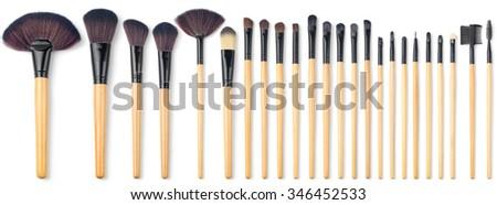 Makeup Brush Set, 24 pieces - stock photo