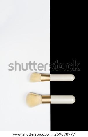 Makeup Brushes - stock photo